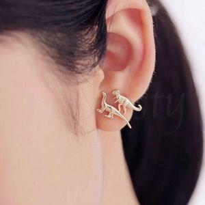 Dinosaur gold set earrings 3 pair!